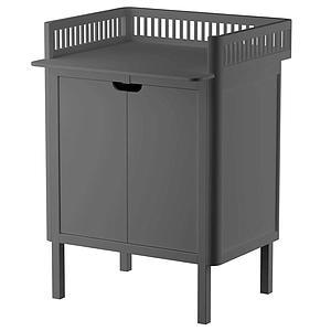 Table à langer 2 portes Sebra classic grey