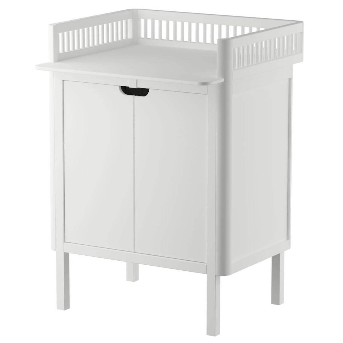 Table à langer 2 portes Sebra classic white