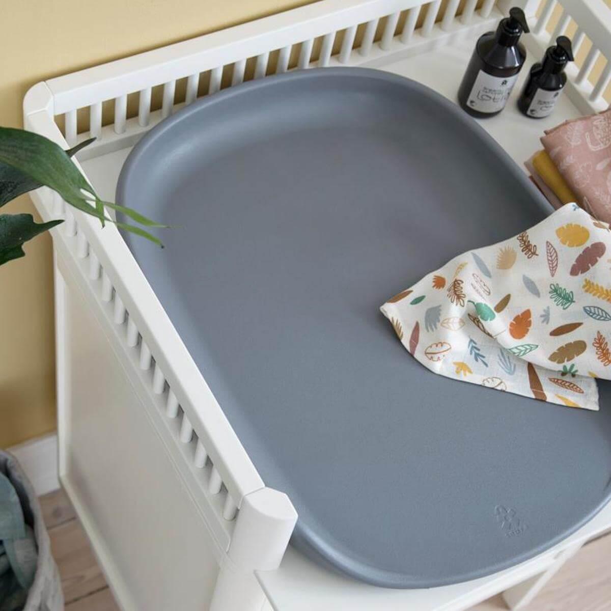 Table à langer 2 tiroirs Sebra classic white