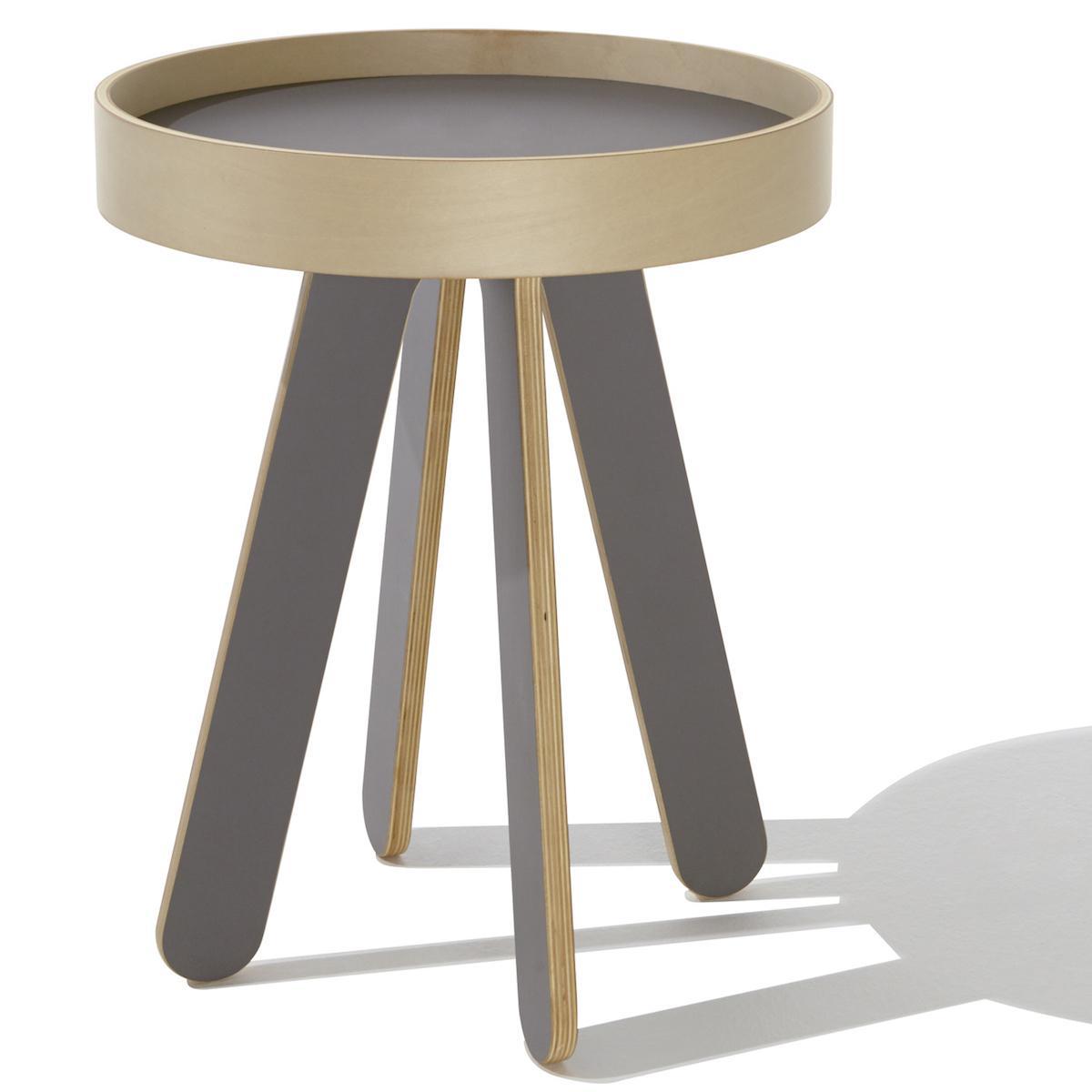 Table à plateau Table de chevet VALET HIGH Mueller anthracite