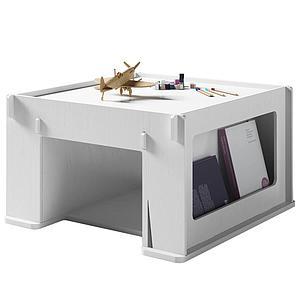 Table de jeu 76x80cm THEO Mathy by Bols blanc