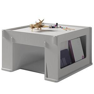 Table de jeu 76x80cm THEO Mathy by Bols gris perle