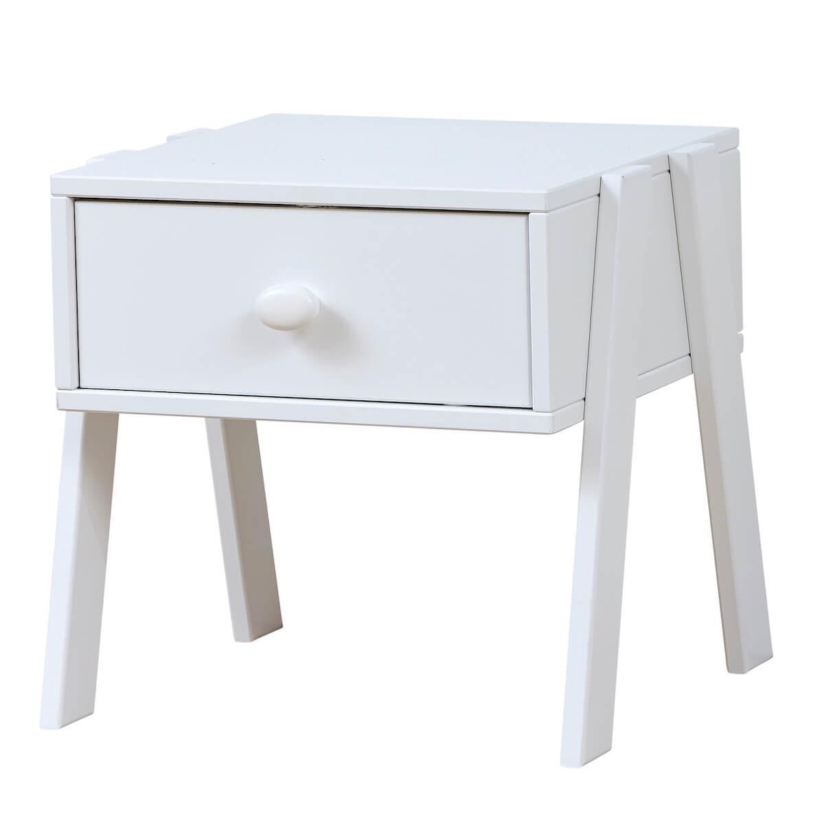 Table de nuit 1 tiroir Lifetime blanc (sans poignée)
