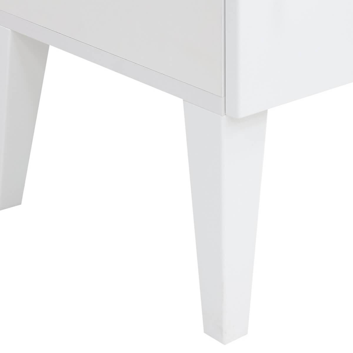 Table de nuit LOCKER Bopita blanc