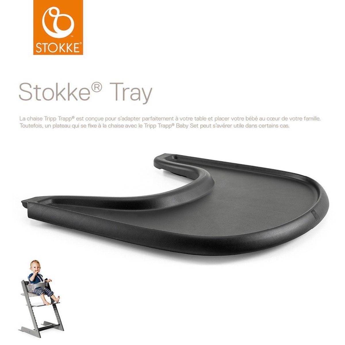 Tablette chaise haute TRAY Stokke noir