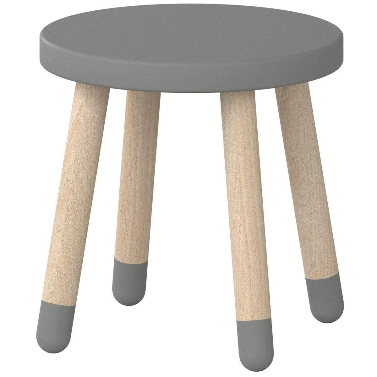 Tabouret enfant 30 cm PLAY Flexa gris urban