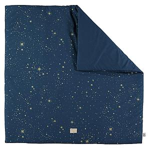Tapis 100x100cm COLORADO ELEMENTS Nobodinoz gold stella-night blue