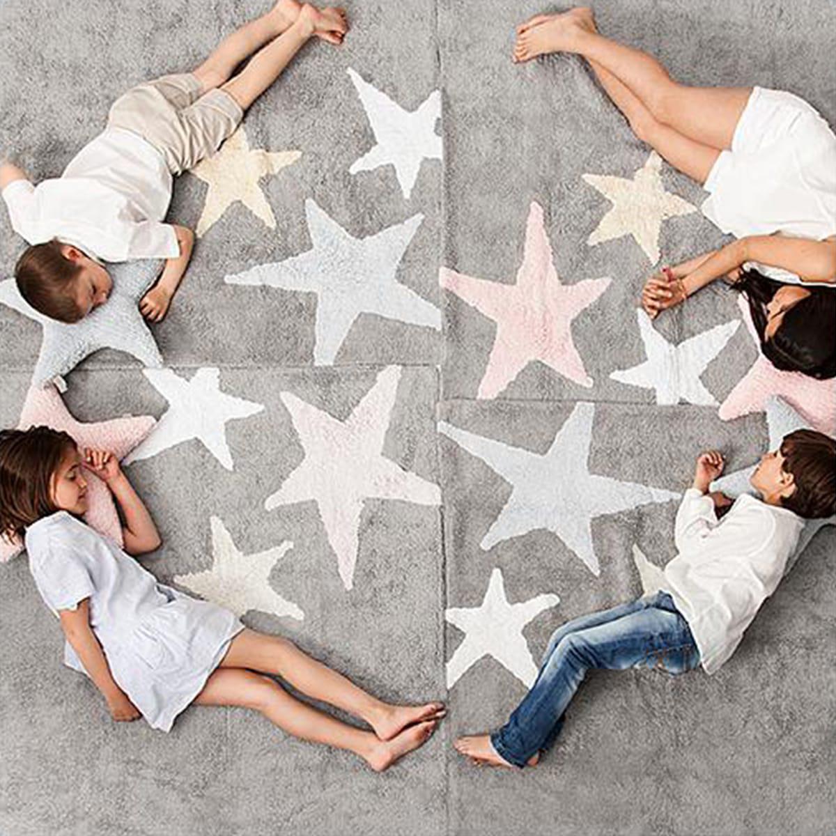 Tapis 120x160cm 3 STARS Lorena Canals grey-pink