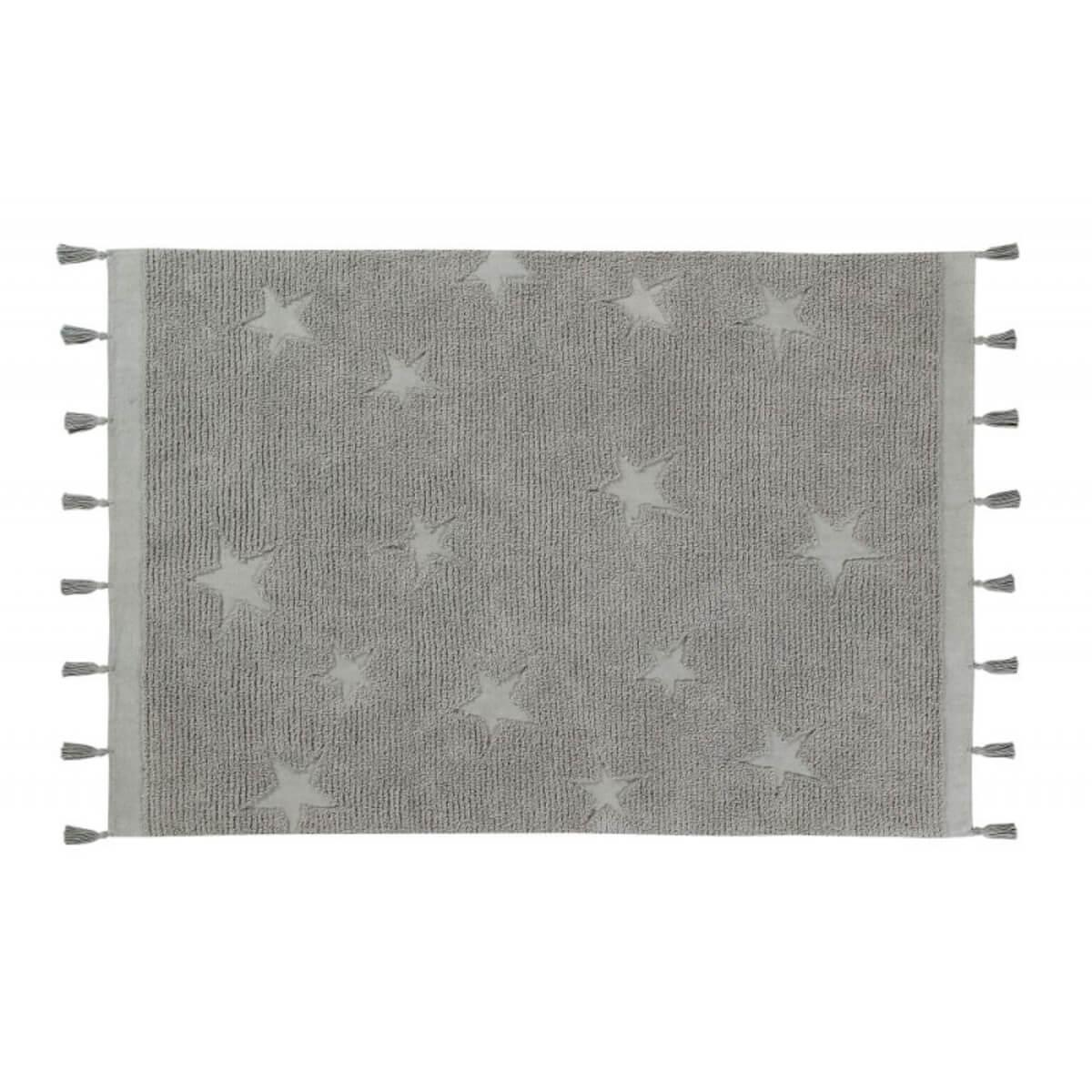 Tapis 120X175cm HIPPY STARS Lorena Canals grey
