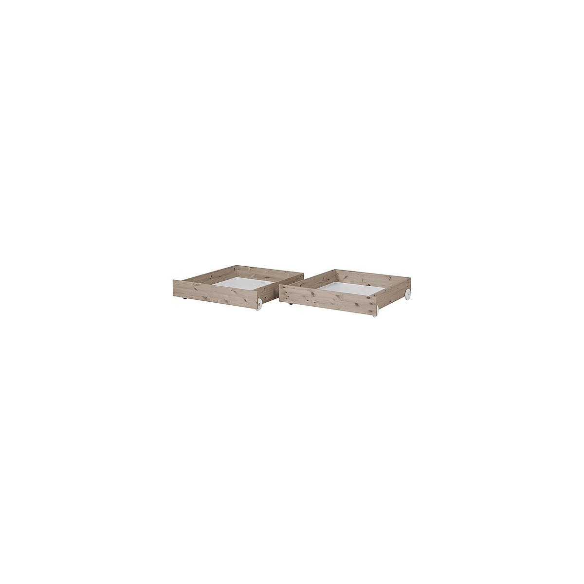 TERRA by Flexa Ensemble de 2 tiroirs brun pour lit simple ou lit superposé 90x200 cm