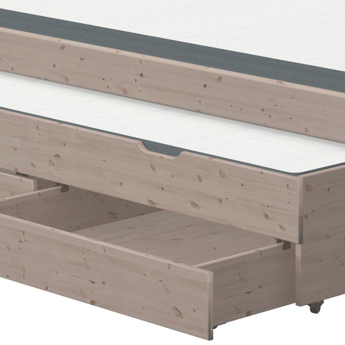 TERRA by Flexa Lit Classic Line 90x200cm + 1 lit gigogne + 2 tiroirs