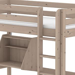 TERRA by Flexa Lit mezzanine 90X190 + échelle droite avec bureau Click-On et module de couchage casa (hors matelas)