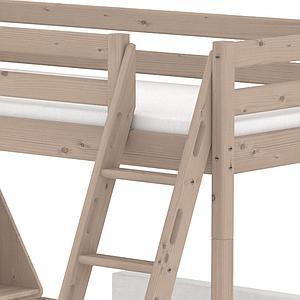 TERRA by Flexa Lit mezzanine 90X200 + échelle inclinée + poignées intégrées avec bureau Click-On et module de couchage casa (hors matelas)