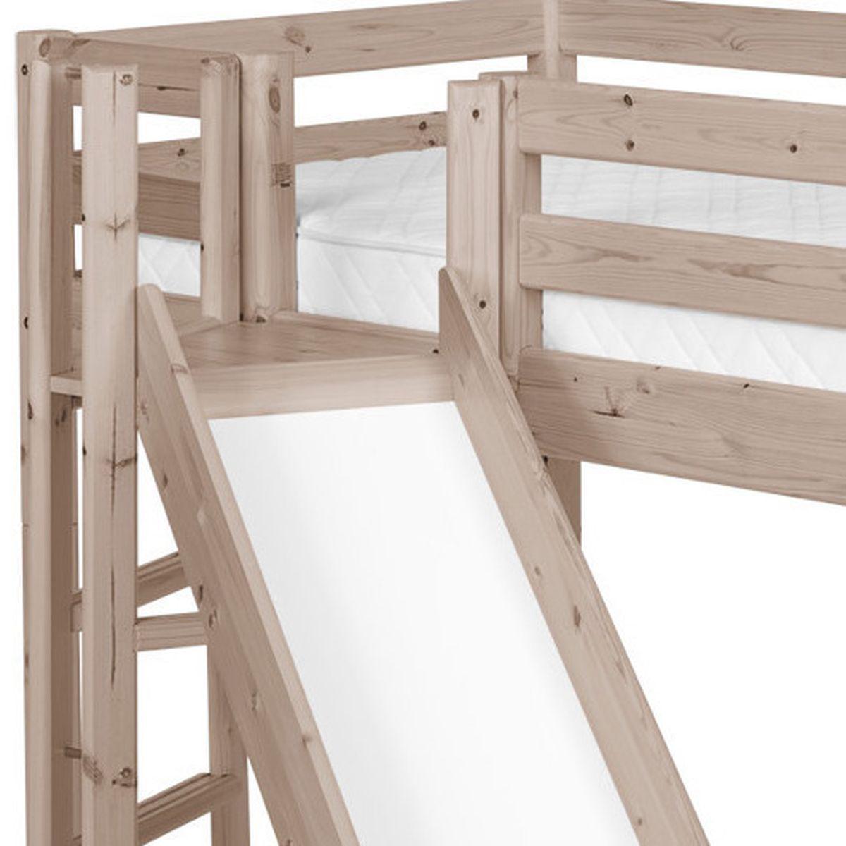 TERRA by Flexa Lit mi-hauteur Classic Line 90x190 cm + plate-forme + toboggan