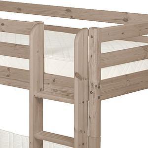 TERRA by Flexa Lit superposé Classic Line 90x190 cm + échelle droite + 2 tiroirs