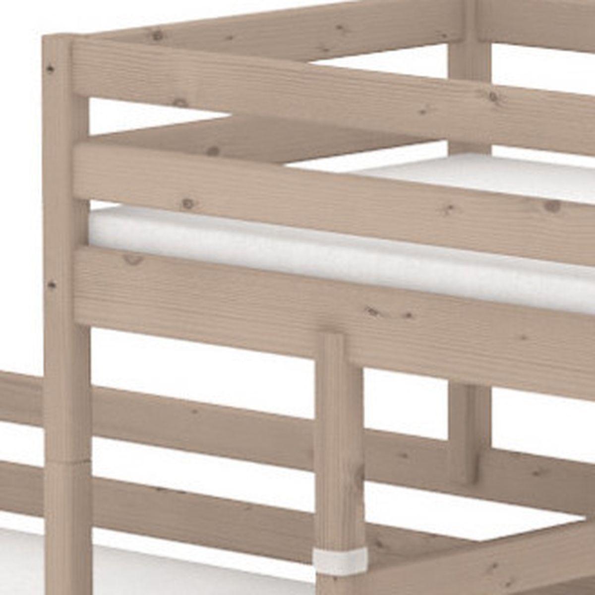 TERRA Lit surélevé Classic + lit Classic simple Line 90x190 cm + échelle inclinée avec poignées by Flexa