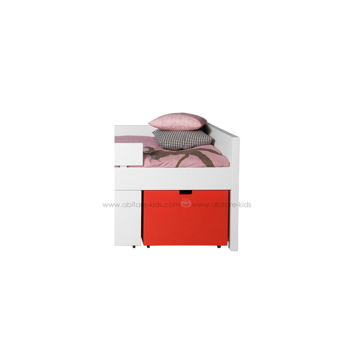 Tiroir à jouets-roulettes MIX & MATCH TIMO Bopita rouge