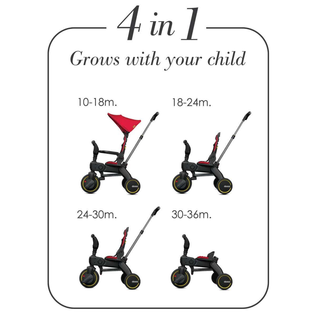 Tricycle LIKI S3 Doona rouge