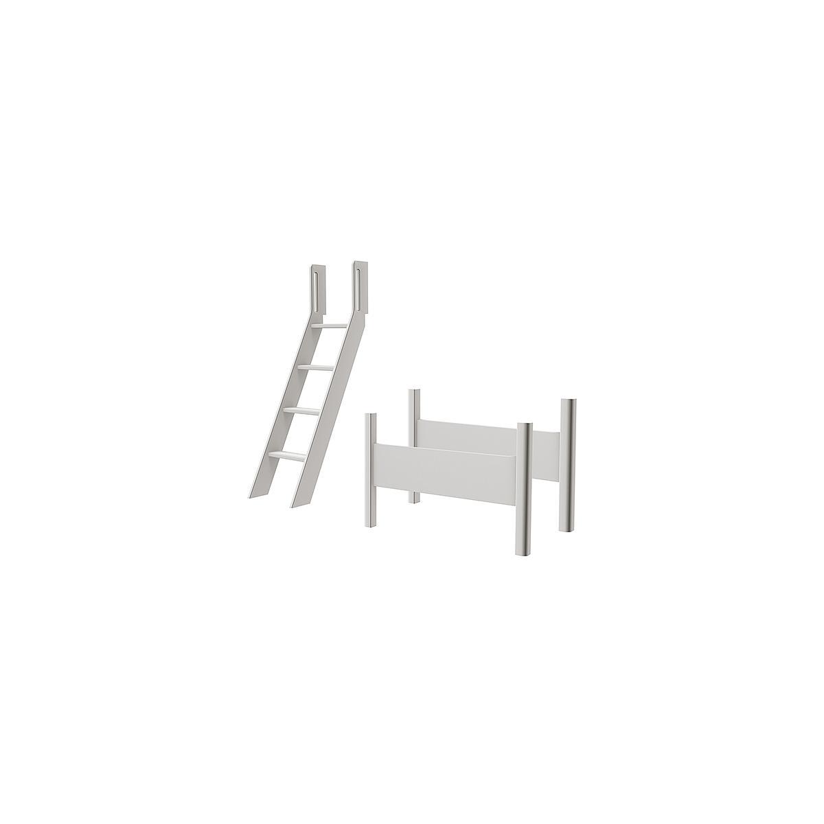 WHITE by Flexa Echelle inclinée et pieds pour lit surélevé en MDF