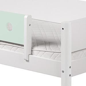WHITE by Flexa Extrémité de barrière de sécurité en MDF uniquement pour lit simple