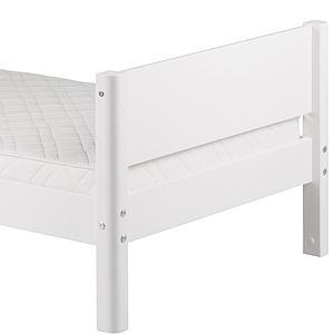 WHITE by Flexa Lit simple 90x190 cm en MDF avec pieds blanc