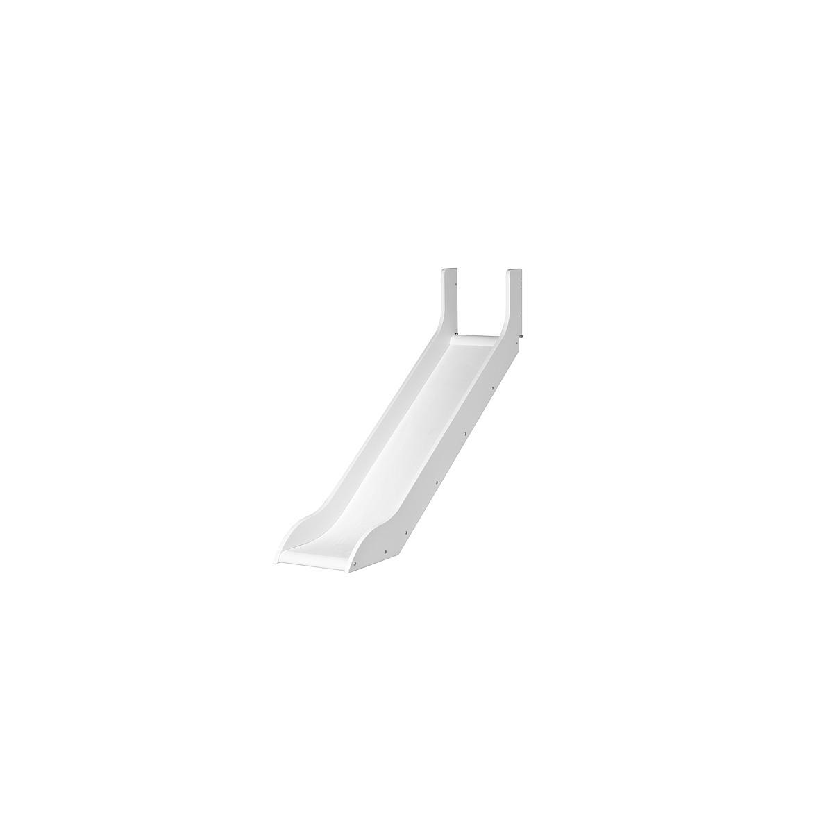 WHITE by Flexa Toboggan pour lit mi hauteur en MDF blanc